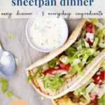 Easy sheet pan dinner - chicken shawarma - pinterest