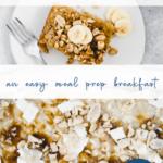 baked PB oatmeal - banana - healthy breakfast - quick - pinterest