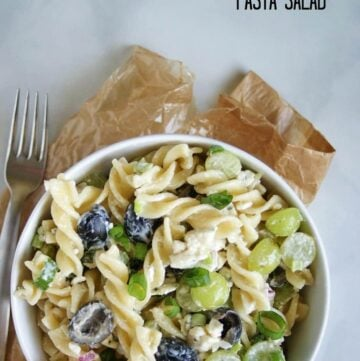 Blue Cheese & Olive Pasta Salad | A Nutritionist Eats