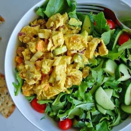 Chicken Curry Salad | anutritionisteats.com