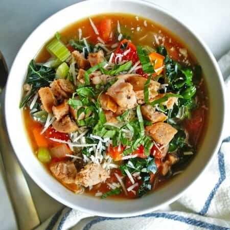 Italian Chicken Sausage & Vegetable Soup | anutritionisteats.com