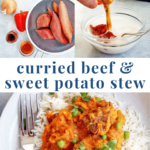 instant pot beef sweet potato stew - healthy easy dinner - pinterest