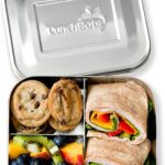 Bento box with wrap fruit and cookies