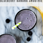 blueberry banana smoothie recipe - pinterest