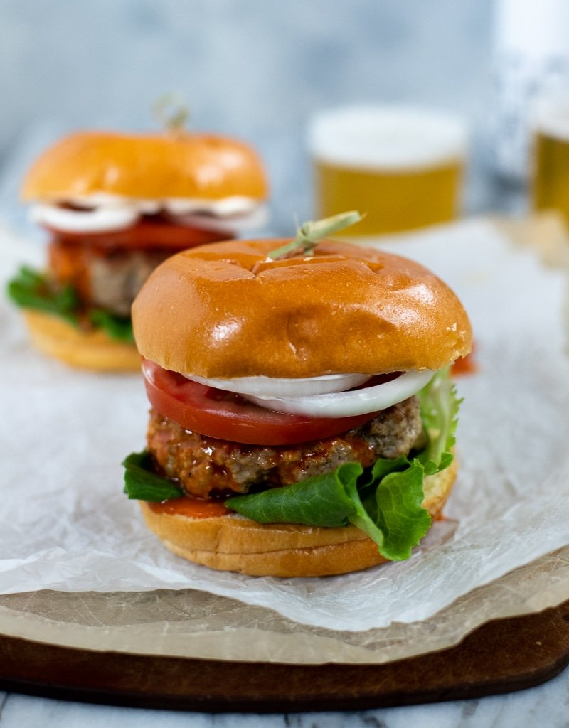 Healthy Turkey Burgers With Buffalo Butter Recipe My Everyday Table