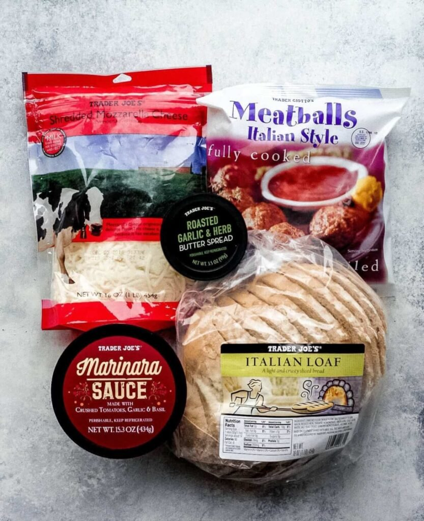 ingredients for homemade meatball subs
