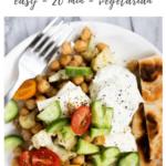 greek chickpea skillet recipe - pinterest