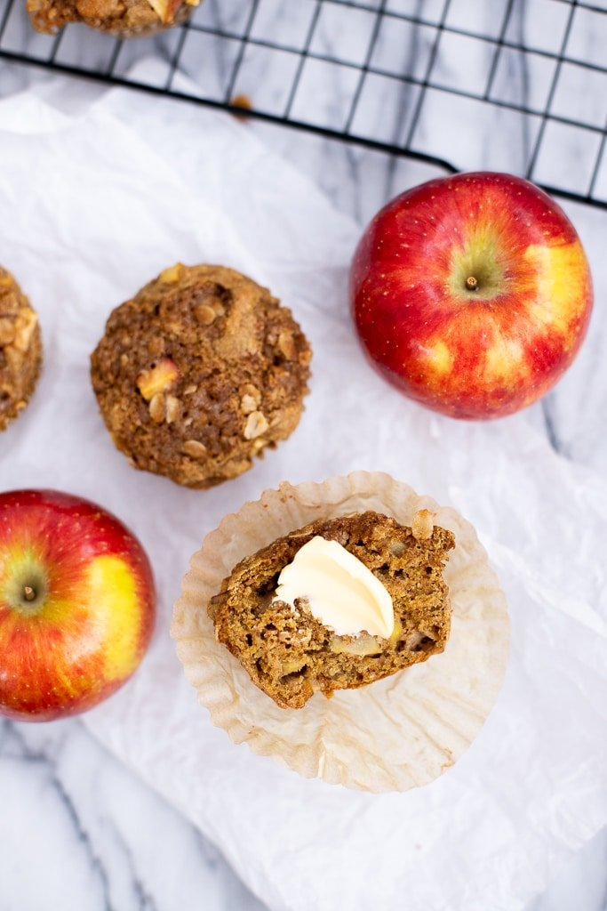 recipe for healthy apple muffins