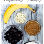 ingredients for healthy blueberry and banana smoothie