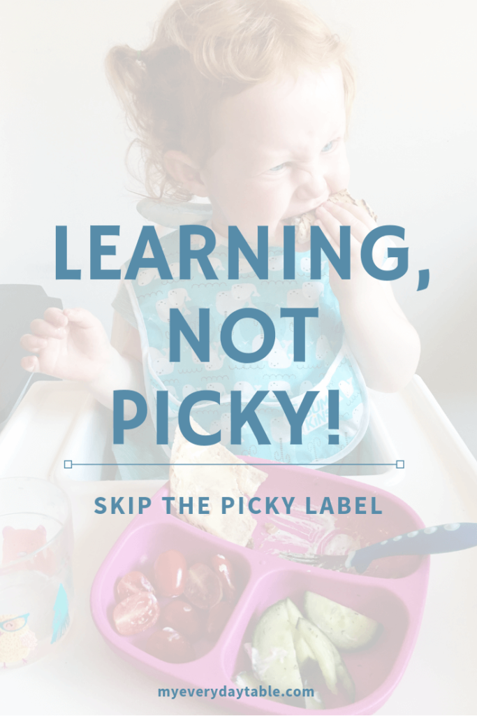 healthy eating for kids - don't label them as picky