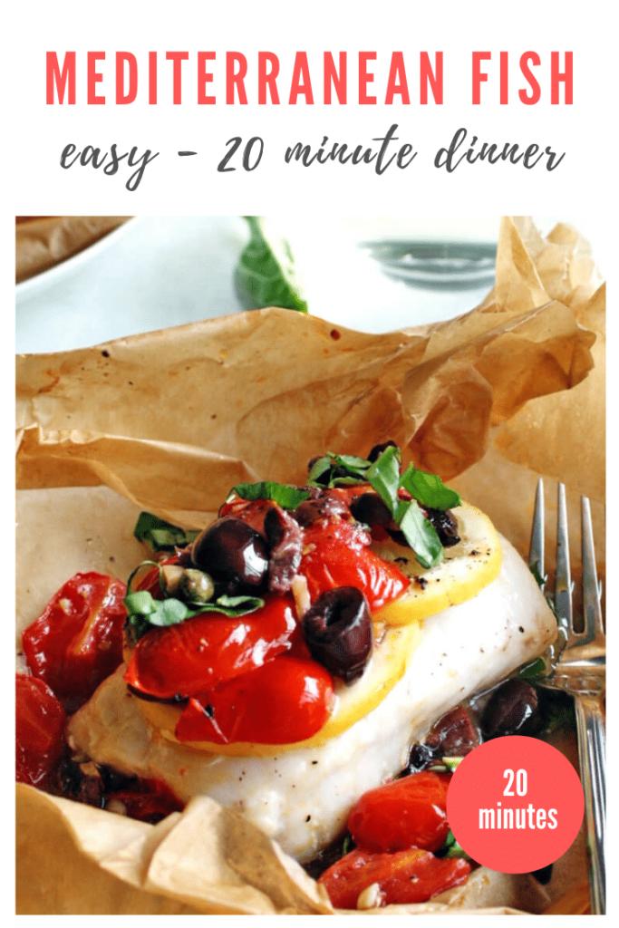Mediterranean fish recipe - pinterest