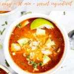 Mexican Chicken Taco Soup recipe - pintereset