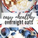 Overnight Muesli Oats with Blueberries and Almonds