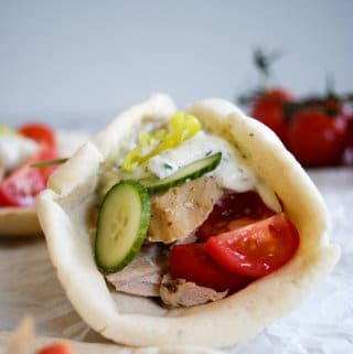 slow cooker pork loin in pita