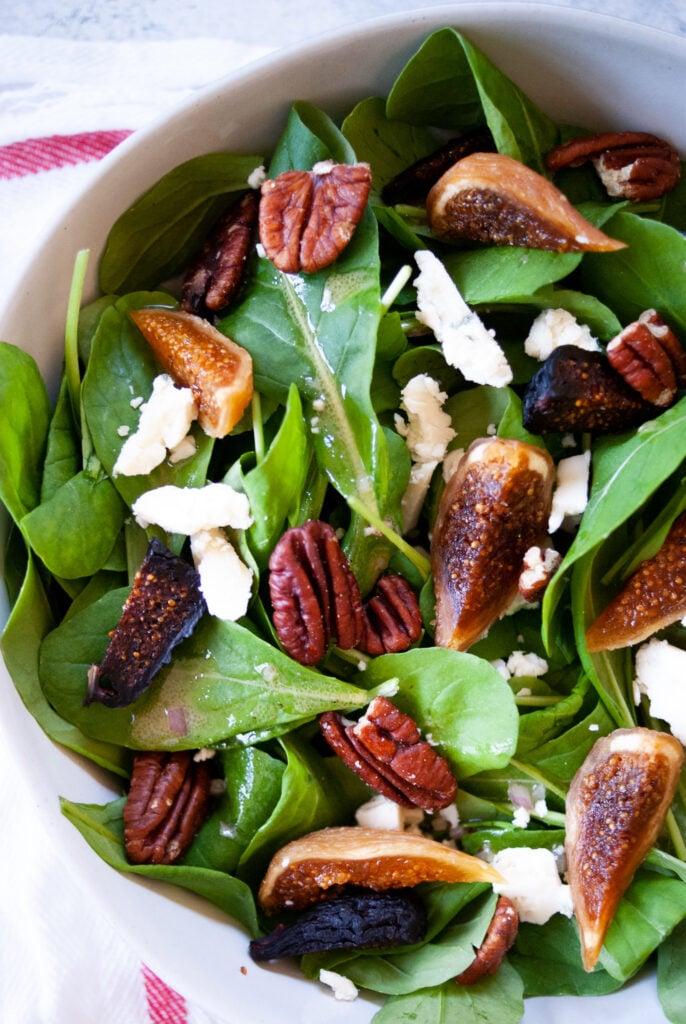 close up of arugula salad recipe