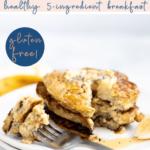 healthy banana oat pancakes recipe - pinterest