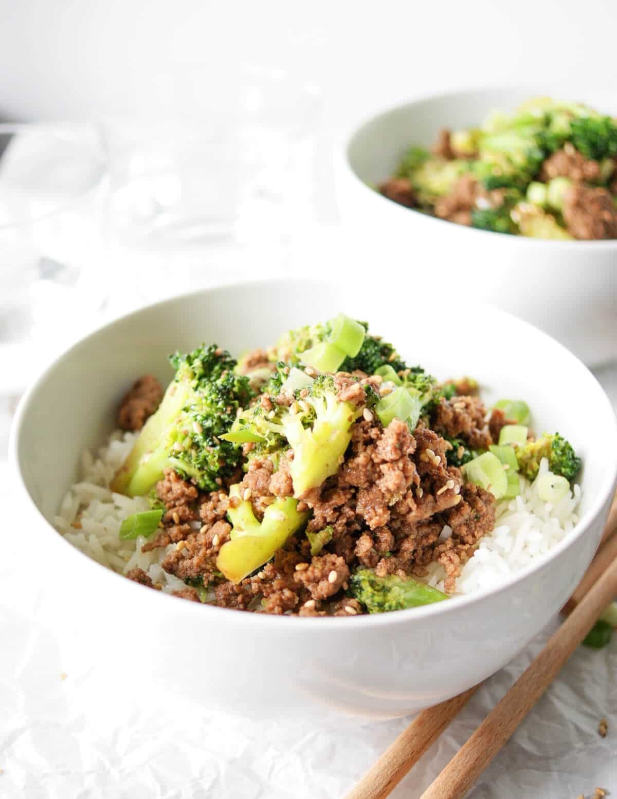 Ground Beef And Broccoli Rice Bowl Recipe My Everyday Table