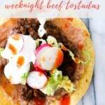 ground beef tostadas recipe - pinterest