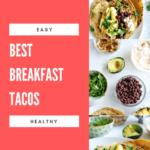 pinterest image - easy breakfast tacos