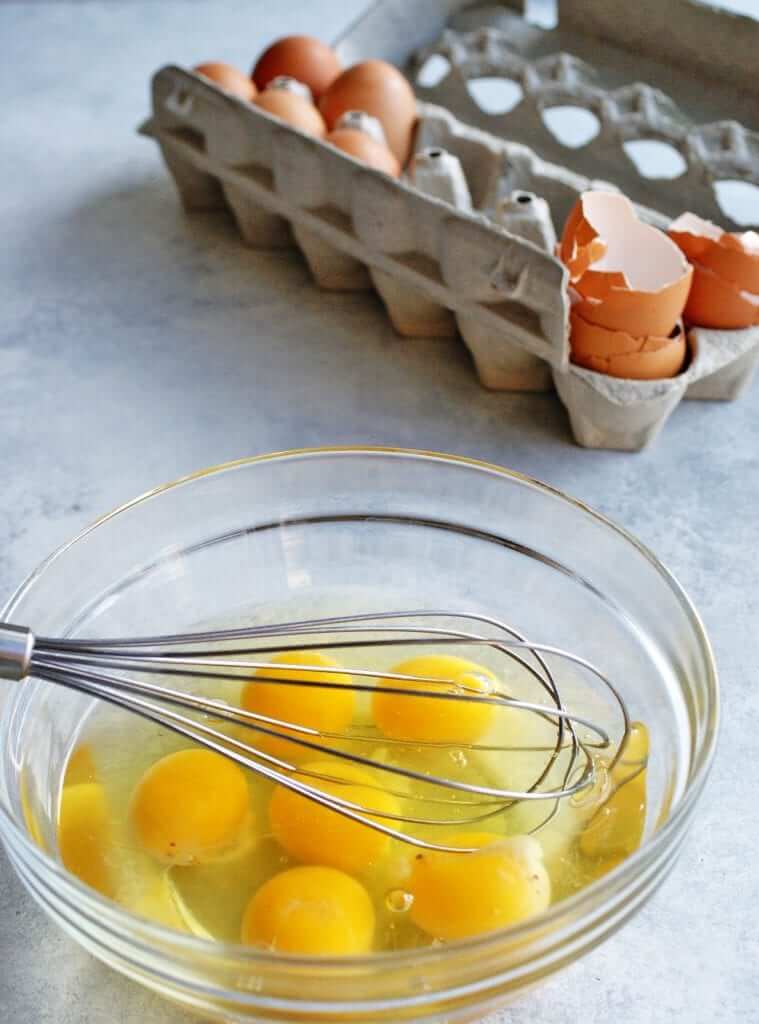 breakfast taco eggs to whisk