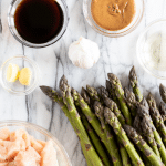 Ingredients for chicken and asparagus stir fry- pinterest