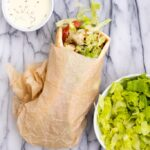Chicken Shawarma wrap with white sauce