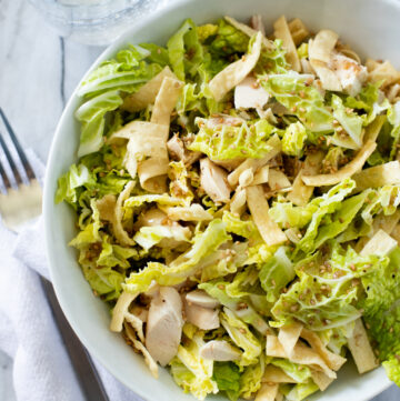 Bowl of Chinese chicken salad