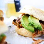 chipotle chicken thighs sandwich with avocado