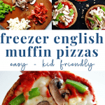 Freezer English Muffin Pizzas - meal prep - healthy dinner - pinterest