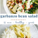garbanzo bean salad - healthy easy - pinterest