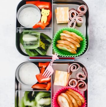 ham and cheese bento box - two boxes