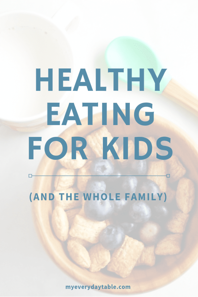 healthy eating for kids poster