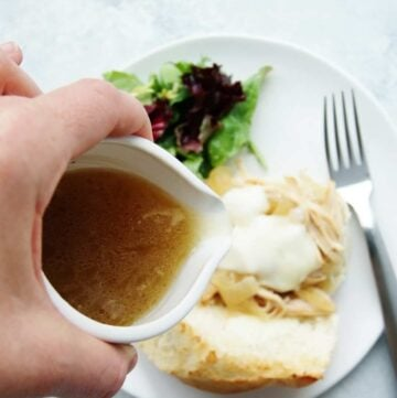 healthy slow cooker turkey french dip