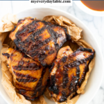 How to grill chicken thighs - pinterest