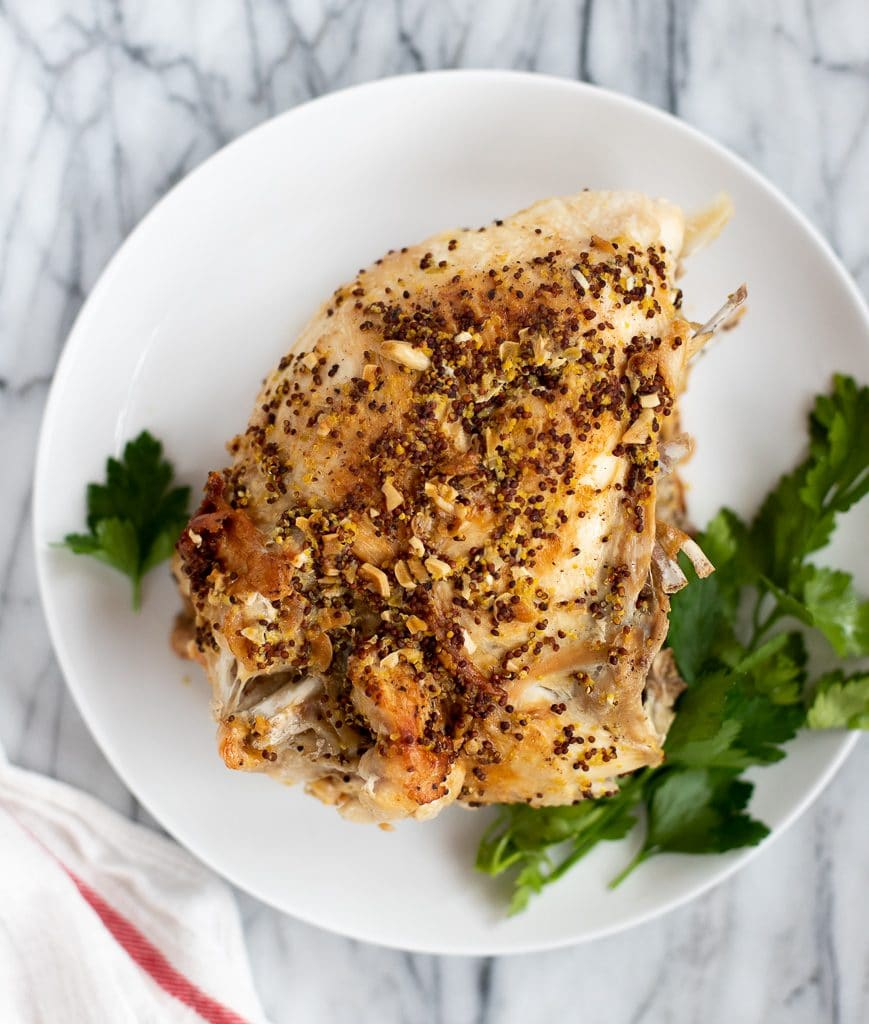 turkey breast resting after cooking in instant pot
