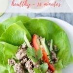 thai lettuce wraps recipe - pinterest
