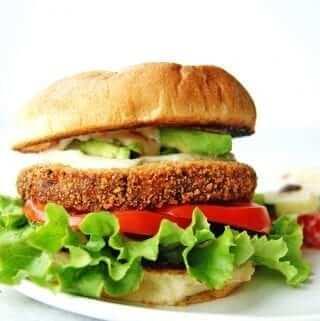 loaded veggie burger