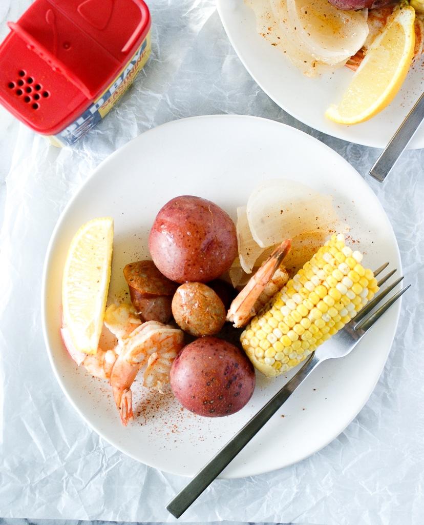 Old bay shrimp boil dinner