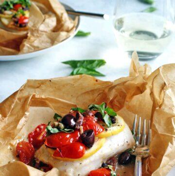 Mediterranean Fish in parchment paper parcels