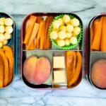 Orange bento box lunch for kids