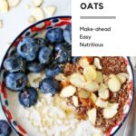 Overnight oats with blueberries and almonds