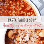 pasta fagioli soup recipe - pinterest