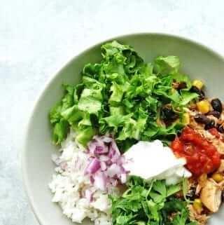 slow cooker chicken burrito bowls 7