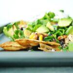 Tray of chicken nachos