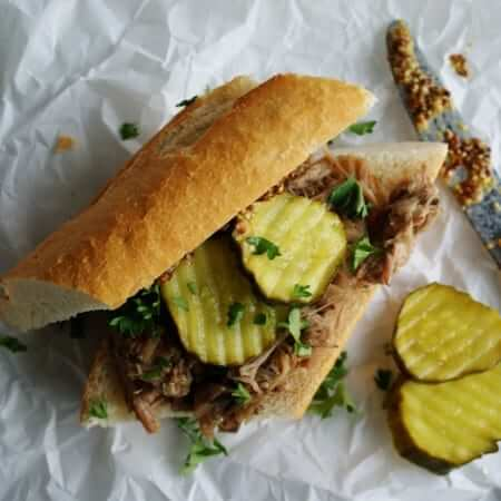 Slow Cooker Pork Sandwiches | anutritionisteats.com
