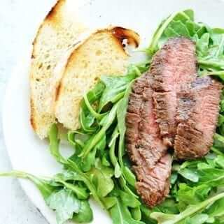 easy grilled flank steak salad