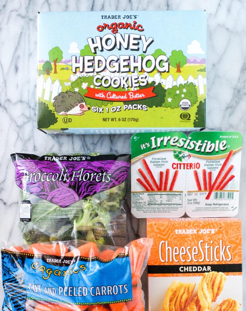 Ingredients to make Trader Joe's lunch