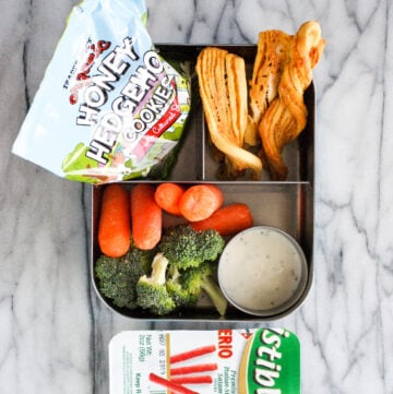 Lunchbox with Trader Joe's lunch